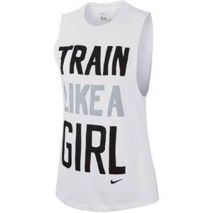 """🆕 """"Train Like A Girl"""" Nike Muscle Tee - White"""